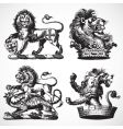 gothic lion ornaments vector image
