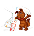 Singing dog vector image
