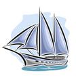 Sailing yacht vector image
