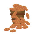 bucket bread multiplication miracle image vector image