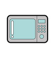 cute microwave graphic design vector image