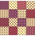 Seamless patchwork claret color pattern 2 vector image