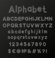 Decorative chalk alphabet vector image vector image