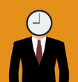 Businessman his head is a clock vector image