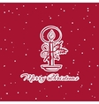Christmas Sticker Candle vector image