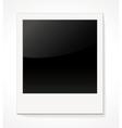 Empty shiny photo frame Polaroid vector image