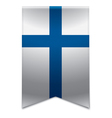 Ribbon banner - finnish flag vector image