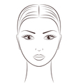 Women s face vector image