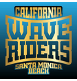 Wave riders typography graphics vector image