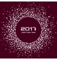 White Brown New Year 2017 circle frame Background vector image