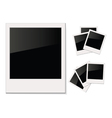Empty shiny photo Polaroid Isolated on white vector image