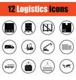 logistics icon set vector image