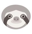 Sloth flat ico vector image