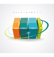 Abstract 3D glossy icon vector image vector image