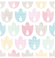 Abstract textile geometric tulips colorful vector image vector image