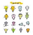 Set of light bulbs vector image