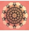 Ornamental round mandala design Round frame on vector image vector image