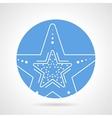 Starfish round icon vector image