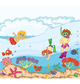 kids swimming vector image vector image