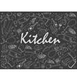 Kitchen chalk vector image