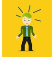 Angry young cartoon businessman or office worker vector image