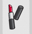 classic red glossy lipstick isolated vector image