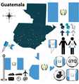 Guatemala map vector image