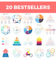 Infographic elements with 2 3 4 5 6 steps vector image