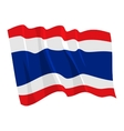 political waving flag of thailand vector image