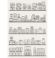 store shelves 3 vector image