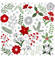 Christmas Floral Set vector image