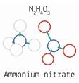 Ammonium nitrate N2H4O3 molecule vector image