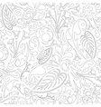 Outlined floral pattern vector image vector image