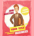 business meeting poster vector image