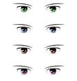 Anime male eyes vector image