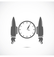 Clock with jet engines vector image vector image