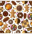 Cookies background for christmas and birthday vector image