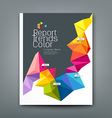Cover report trends colorful geometric year design vector