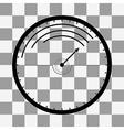 Black Speedometer icon on transparent vector image