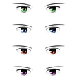 Anime male eyes vector image