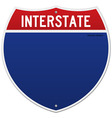 Isolated Interstate Sign vector image