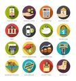 Loan Icons Set vector image