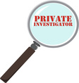 Private Investigator vector image