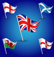 set flags united kingdom england scotland wales vector image