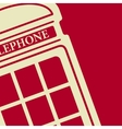 telephone box icon Eps10 vector image