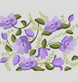 vintage violet flowers handmade pattern vector image