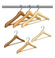 Wooden coat hangers vector image