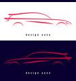 design sport car silhouette vector image vector image