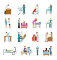 maternity hospital nursery set vector image vector image