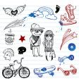 hipsters doodles vector image